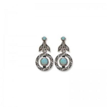 Boucles d'oreille en Argent 925 (Opales- Marcassites)