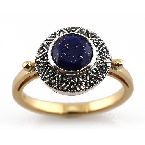 Bague en Argent/vermeil 925 (Lapis lazuli)