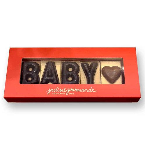 Lettres personnalisées en chocolat Jadis et Gourmande