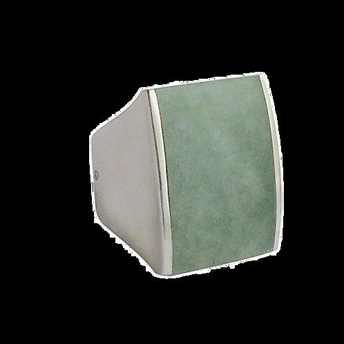 Bague en Argent 925 (Jade vert)