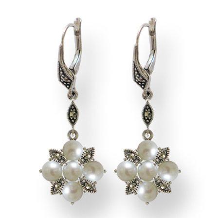 B.O Argent 925 (Perles De Culture - Marcassites)
