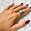 Thumbnail: Bague En Argent 925 (Jade vert - Marcassites)
