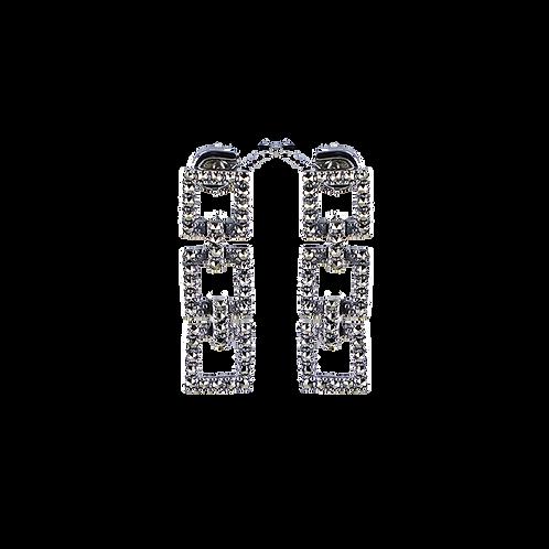 Boucles d'oreilles en Argent 925 (Marcassites)