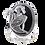 Thumbnail: Bague En Argent 925 (Onyx - Marcassites)