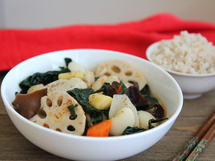 ROOTS, GREENS, & BEAN SOUP