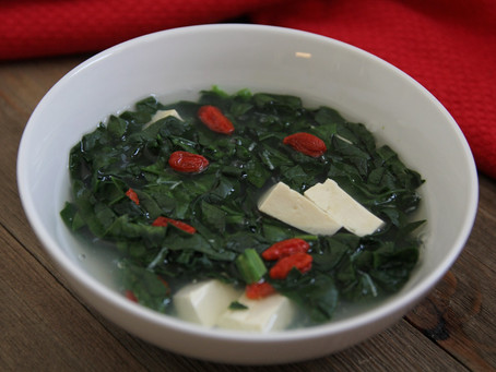 SPINACH & TOFU SOUP