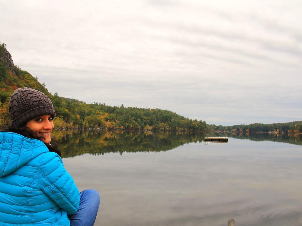 Image of author enjoying fall