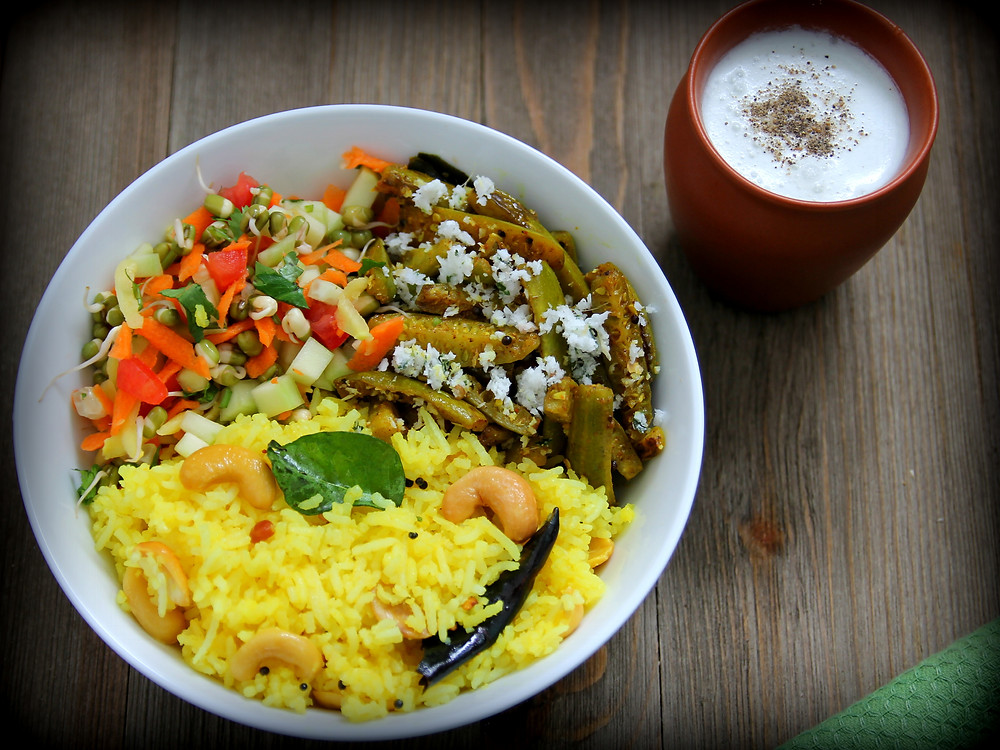 Picture of Summer Rice Bowl and Coconut Milk Chaach