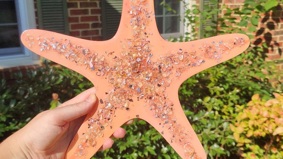 Glass embellished starfish
