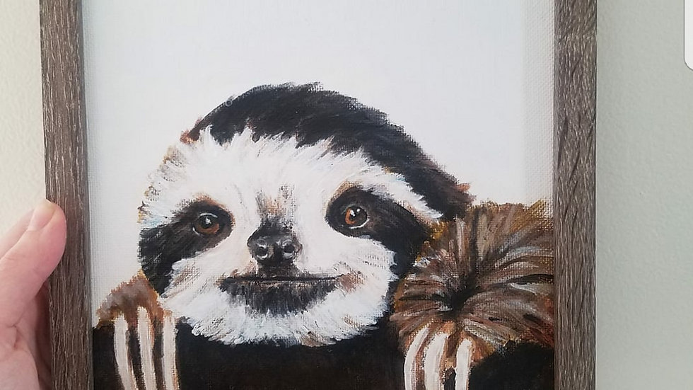 Sloth art prints