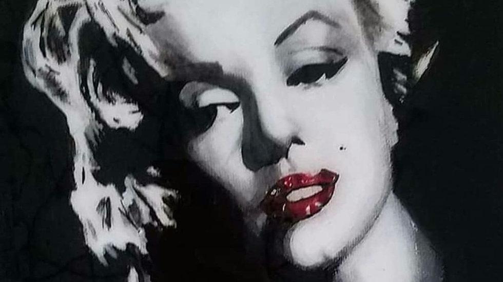 Glass embellished canvas print