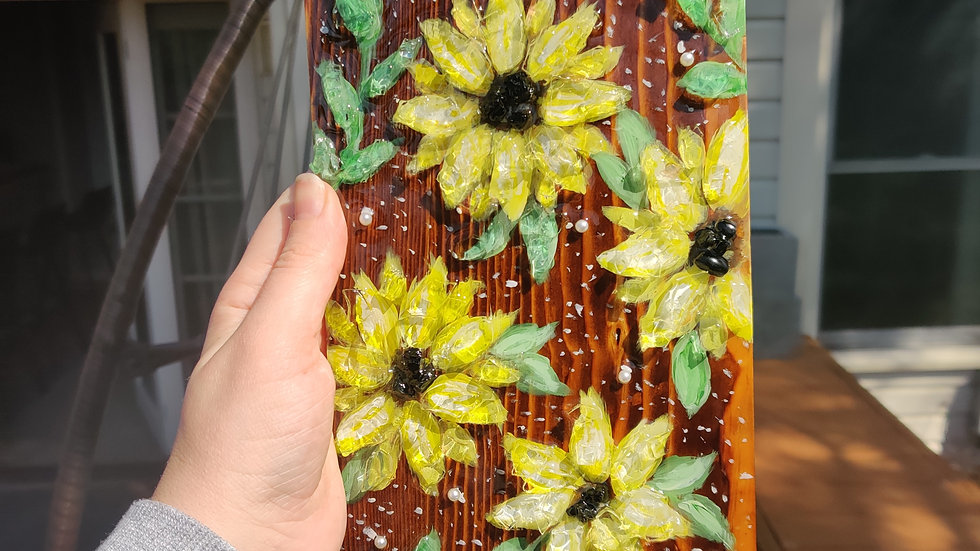 Original sunflower painting