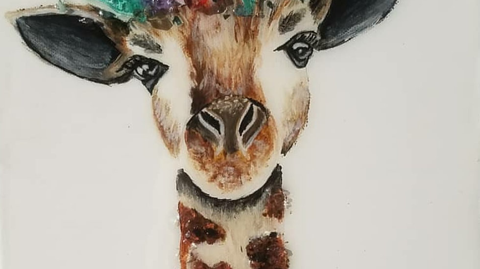 Giraffe photo art print