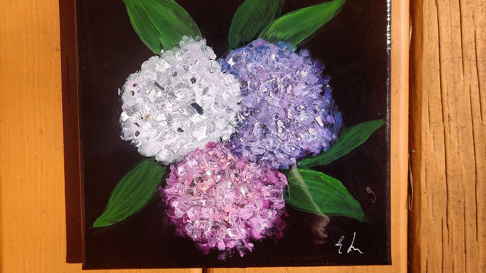 Original hydrangea painting