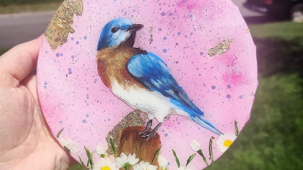 Original bluebird painting