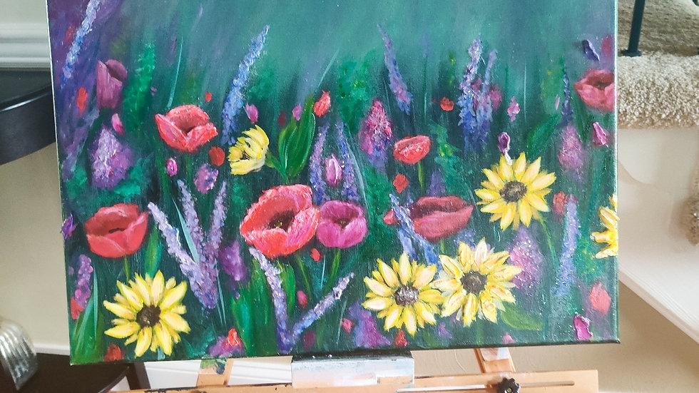 Large Original textured painting