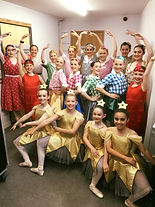 Footlights Dance School Students dancing with English Youth Ballet