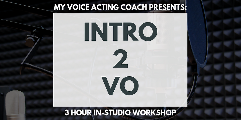 INTRO TO V.O. 3 HOUR IN-STUDIO AFTERNOON WORKSHOP