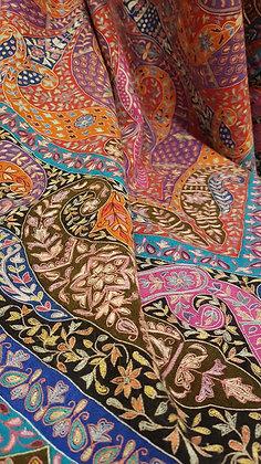 Grand Châle Pashmina Kalamkari Persia - 100x200 cm