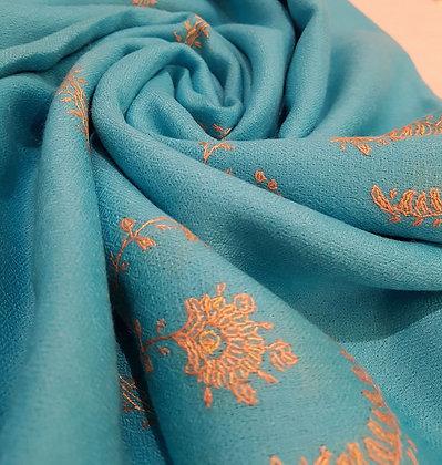 Étole Cachemire Turquoise