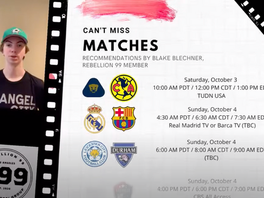 Must-See Matches I October 2-4, 2020