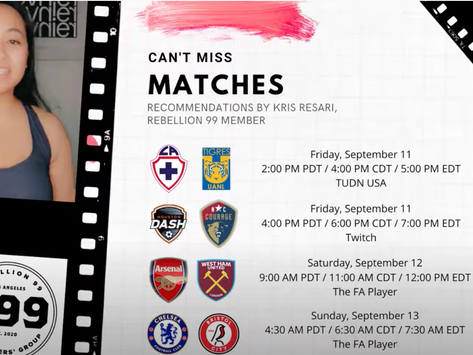 Must-See Matches I September 11-13, 2020