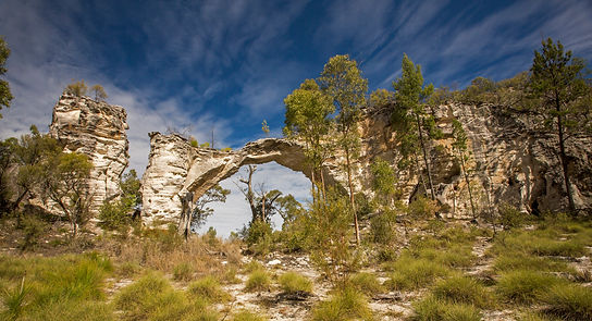 Natural stone arch at Mount Moffatt National Park in Queensland, Australia