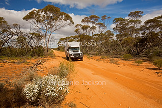 Vehicle on outback road in Murray Sunset National Park - IMG 1258