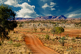 Outback landscape and road in West MacDonnell Ranges, central Australia - IMG 4670B