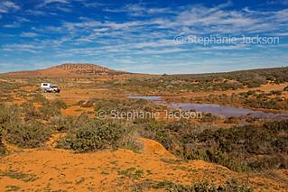 outback landscape creek and campervan - IMG