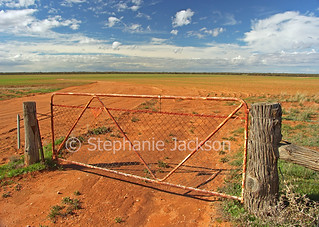 Gate into Australian outback plains - IMG D350