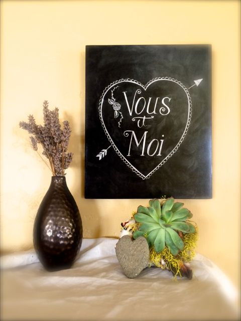 Vous et Moi, chalkboard lettering and signs, valentine gifts