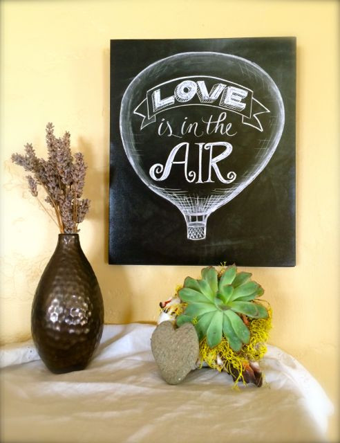 Love in the Air Balloon, Vous et Moi, chalkboard lettering and signs, valentine gifts
