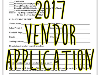 2017 Vendor Application Available!