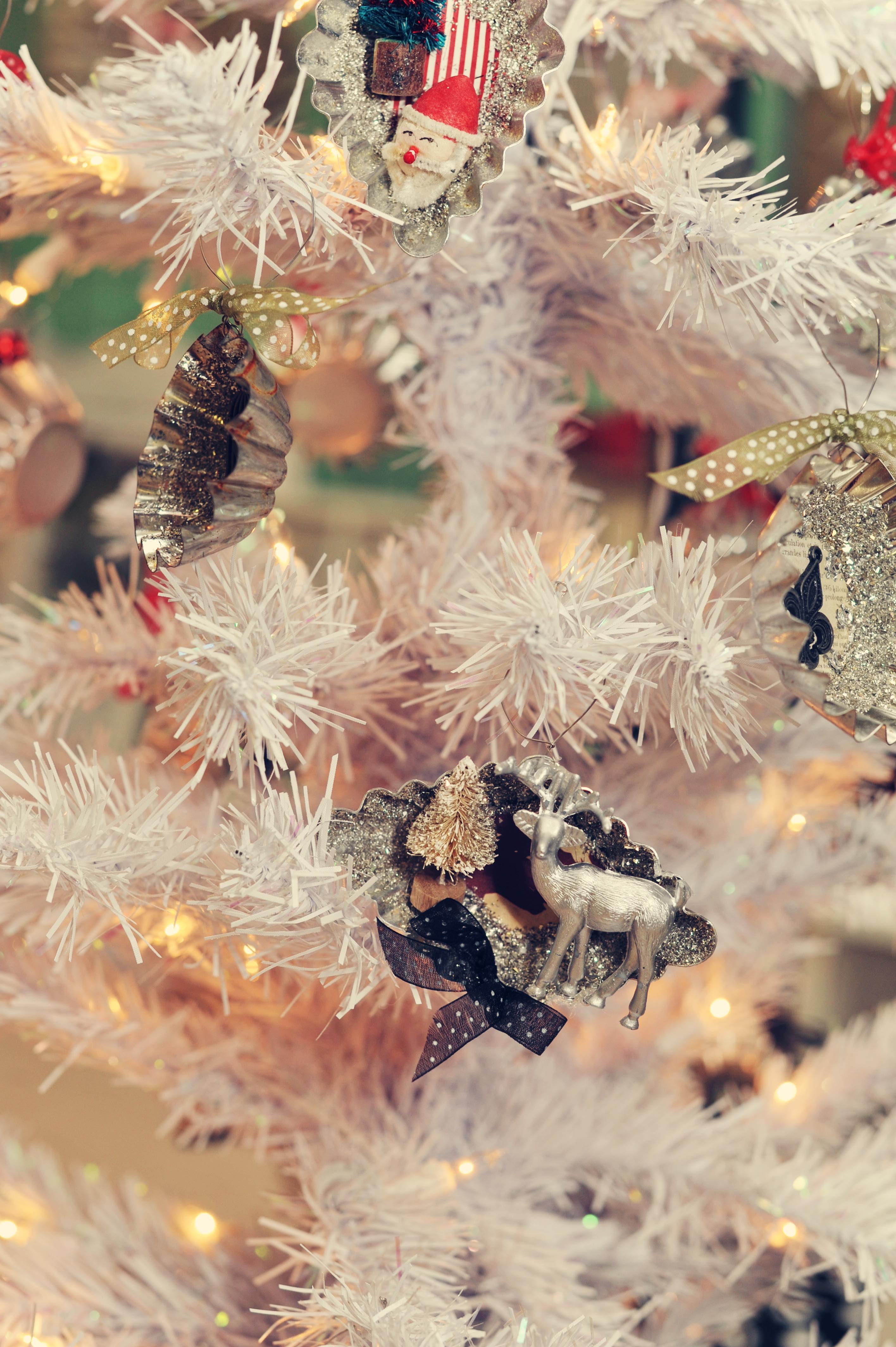 christmas ornaments vitage upcycled