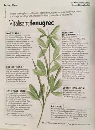 Psychologie Magazine - Vitalisant Fenugrec