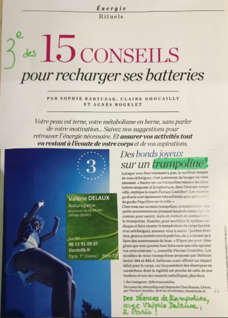 Psychologies Magazine - Recharger ses batteries avec le trampoline Bellicon
