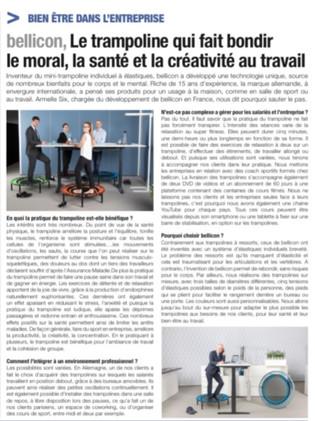 Managers Magazine - le trampoline au travail
