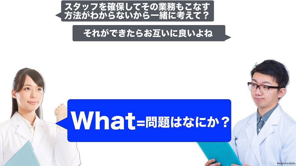 1つ目は「問題」はなにか(What)?
