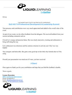 Leadership Conference Feedback