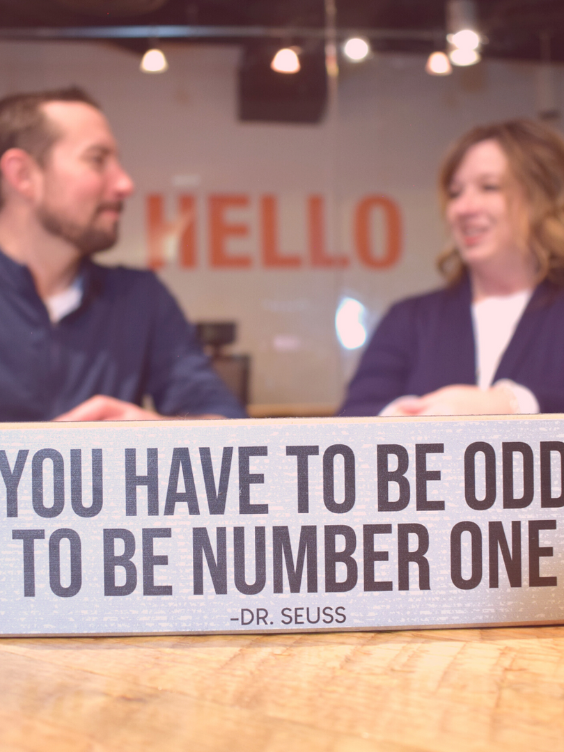 You have to be odd to be number one