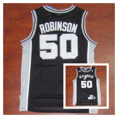 super popular d5566 b26b6 David Robinson San Antonio Spurs Throwback Jersey