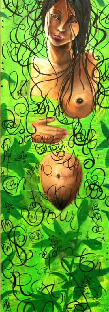 Geisha au vert