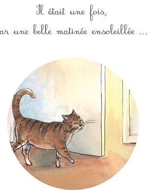 faire-part naissance Roseline d'Oreye garçon chevalier chat fleurs cheval à bascule