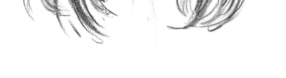 portrait femme fusain noir et blanc