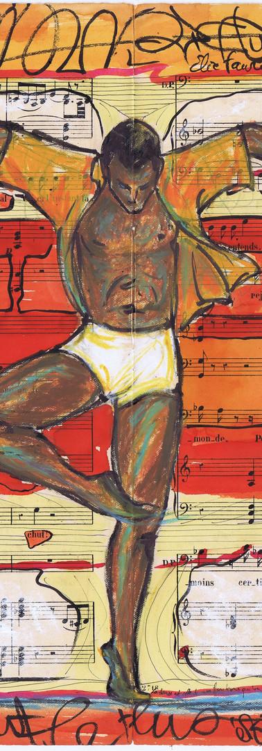 Danseur orange africain