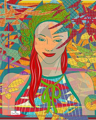 carré de soie femme orange vert bordeaux