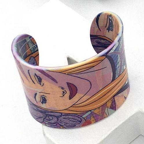 """Bracelet """"La muse - automne - mauve"""""""