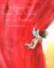 faire-part naissance Roseline d'Oreye cupidon saint valentin ange angelot ailes rideau nuage coeurs