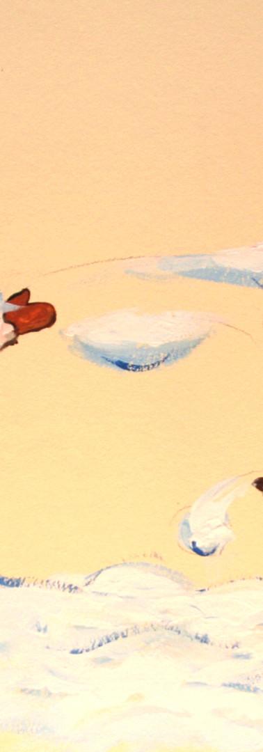 Salle de jeux Peinture murale Les 4 saisons - Hiver